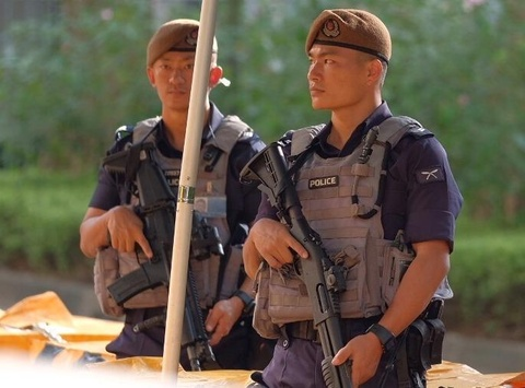 An ninh day dac bao ve khach san noi Kim Jong Un luu tru hinh anh