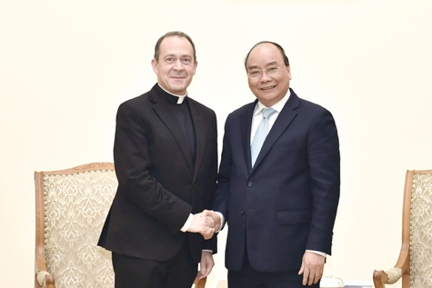 Thu tuong tiep Thu truong Ngoai giao Toa thanh Vatican hinh anh