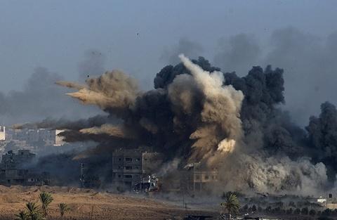 Gaza tro lai 'dia nguc' sau nhung lenh ngung ban chop nhoang hinh anh