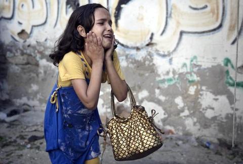 Hinh anh cua nam 2014: Mau nhuom do dai Gaza hinh anh