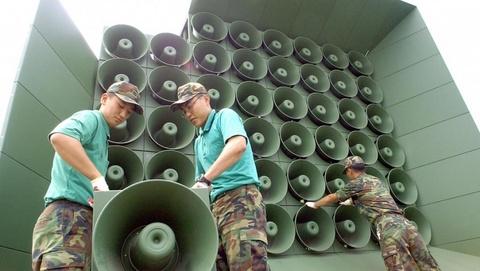 Han Quoc ngung phat thanh chong Trieu Tien o bien gioi hinh anh