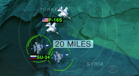 Chien dau co Nga trong tam ngam cua may bay My o Syria hinh anh