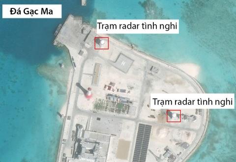 TQ xay loat tram radar tren cac dao phi phap o Truong Sa hinh anh