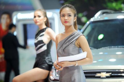 Bong hong xinh dep tai Vietnam Motor Show 2016 hinh anh