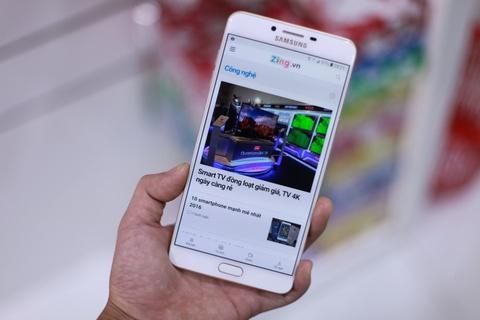 Anh Samsung Galaxy C9 Pro RAM 6 GB gia 11,3 trieu vua ve VN hinh anh