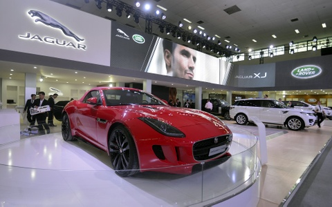 Jaguar trinh lang xe sang tai VIMS 2015 hinh anh