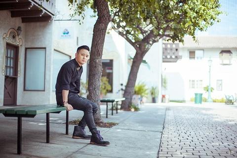 Justin Nguyen khoe net dien trai tren dat My hinh anh