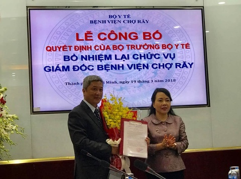Bac si Nguyen Truong Son lam giam doc Benh vien Cho Ray nhiem ky 3 hinh anh