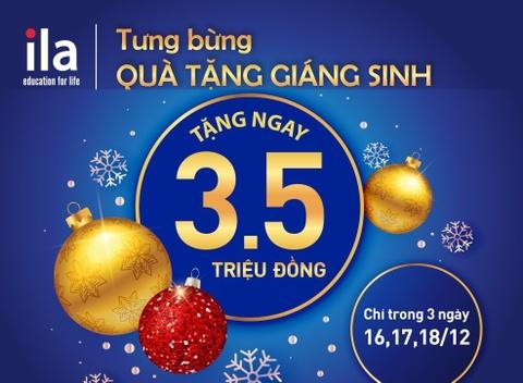 3 ngay nhan hoc bong 3,5 trieu dong mung Giang sinh tai ILA hinh anh