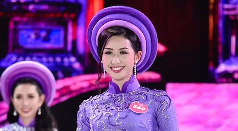 Thi sinh Hoa hau Viet Nam 2018 dep nen na trong ta ao dai hinh anh
