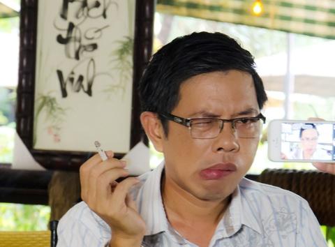Thai Hoa gay cuoi voi tao hinh meo mieng trong phim moi hinh anh