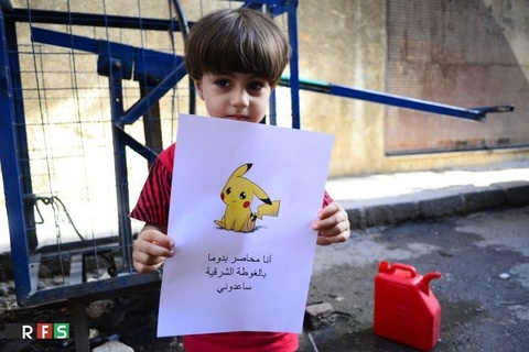 chien tranh syria va pokemon hinh anh