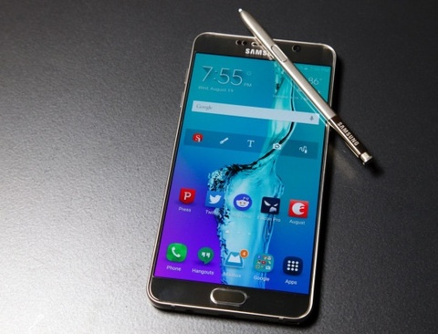 Samsung cho tai ung dung Note 7 tren Note 5 hinh anh