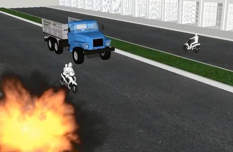 Clip 3D mo phong vu no o Ha Dong hinh anh