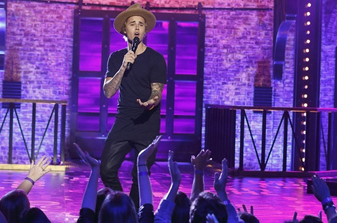 Justin Bieber gay an tuong trong show Lip Sync Battle hinh anh