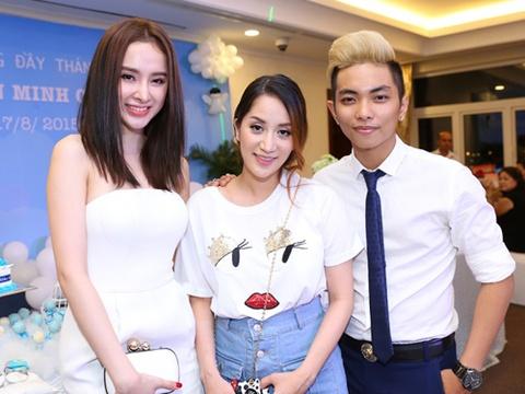 Phuong Trinh, Chi Pu mung day thang con trai Khanh Thi hinh anh
