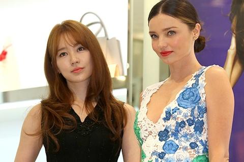 Yoon Eun Hye do sac voc voi Miranda Kerr hinh anh