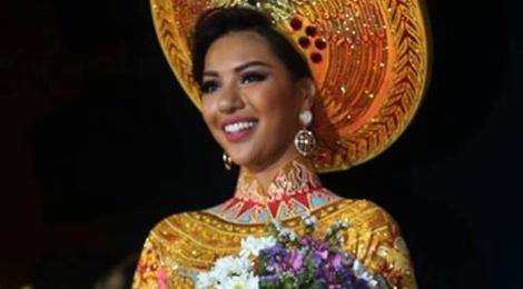 Nguoi dep Viet Nam lot top 3 Trang phuc dan toc Miss Eco hinh anh