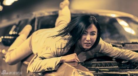 Truong Ba Chi bam dap trong phim dong voi Top (Big Bang) hinh anh