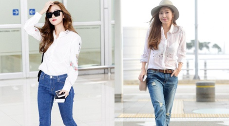 Jessica Jung nghien combo so mi – jeans hinh anh
