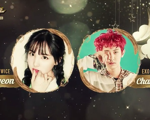 Dream (Music Bank) - Nayeon & Chanyeol hinh anh