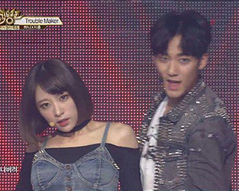 Troublemaker (Music Bank)  – Hani & Jihun hinh anh