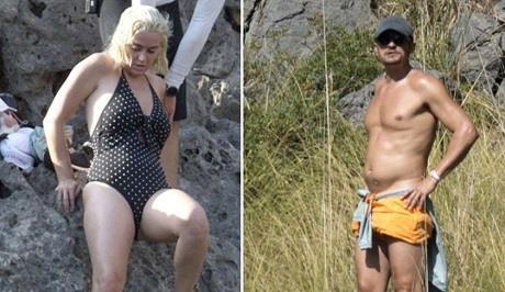 Orlando Bloom mat 6 mui, Katy Perry phat tuong sau ky nghi duong hinh anh
