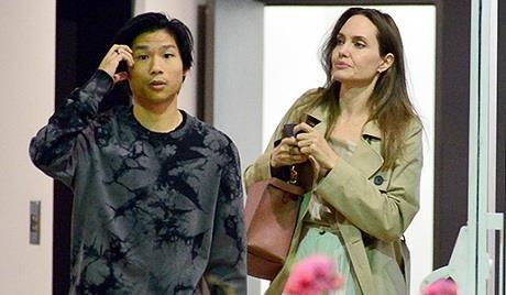 Angelina Jolie di an voi Pax Thien khi vua tro ve tu Han Quoc hinh anh