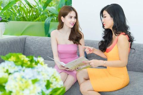 Ngoc Trinh chon lam dep tai Thea Beauty Solutions hinh anh