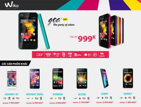 Wiko chiem linh thi truong voi smartphone 999.000 dong hinh anh