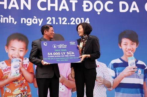 54.000 ly sua tang tre em nhiem chat doc da cam Thai Binh hinh anh