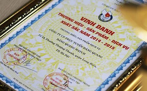 Dang Quang Watch dat doanh nghiep tieu bieu 2014-2015 hinh anh