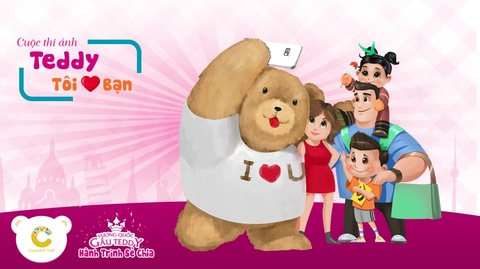 Cung gau Teddy mung sinh nhat 4 tuoi cua Crescent Mall hinh anh