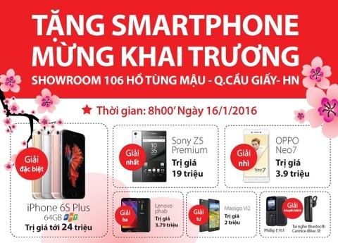 TechOne tang smartphone mung khai truong shop Ho Tung Mau hinh anh