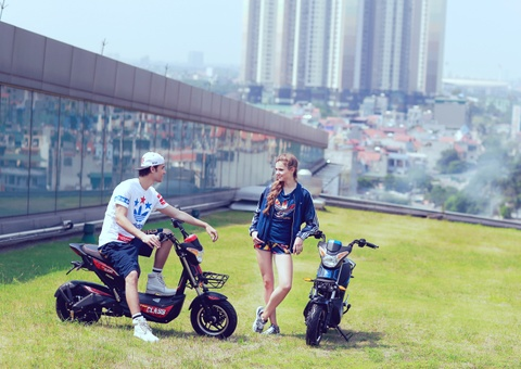 Xe dien cao cap HKbike Top Class hut ban tre hinh anh