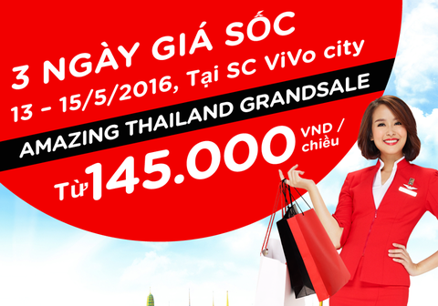 AirAsia tung ve khuyen mai 7 USD tuyen TP HCM - Bangkok hinh anh
