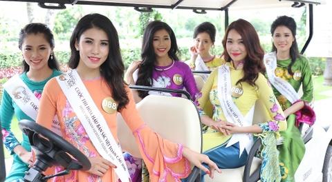 Nguoi dep Hoa hau Ban sac Viet khoe sac o Vinh Phuc Resort hinh anh