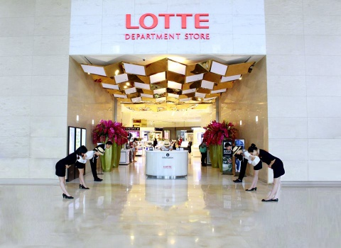 lotte giam gia hinh anh