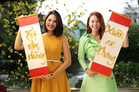Minh Hang than thiet voi Huong Giang trong MV Tet hinh anh
