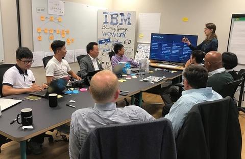 Five9 mang bai toan Credit Score den su kien IBM Design Thinking hinh anh