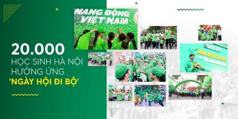 'Ngay hoi di bo' dang nho voi 20.000 hoc sinh Ha Noi hinh anh