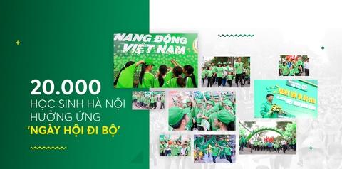 'Ngay hoi di bo' dang nho voi 20.000 hoc sinh Ha Noi hinh anh 1