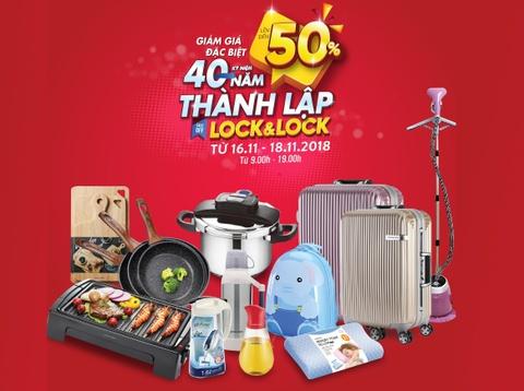 Lock&Lock giảm giá đến 50% loạt sản phẩm tại nhà máy Bắc Ninh