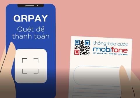 Khach hang MobiFone thanh toan cuoc phi tien loi voi QRPay hinh anh