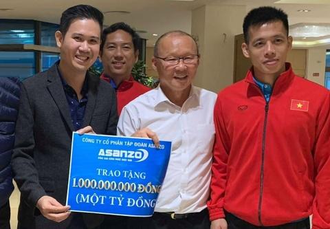 Asanzo thưởng nóng tuyển Việt Nam 1 tỷ đồng ngay trong đêm
