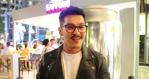 Thien Minh, Quang Dai trai nghiem beer club kieu mo tai Sai Gon hinh anh