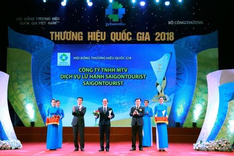 Lu hanh Saigontourist tiep tuc nhan giai thuong hieu quoc gia hinh anh