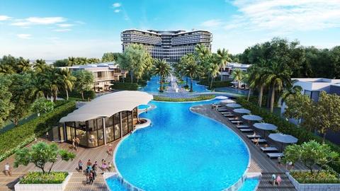 Resort phong cach My tai Phu Quoc mo cua don khach truoc Tet Nguyen dan hinh anh