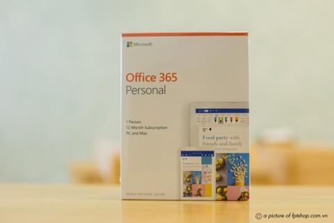 Ưu đãi 55% khi mua Office 365 Personal bản quyền tại FPT Shop