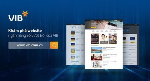 VIB giới thiệu website ngân hàng số mới